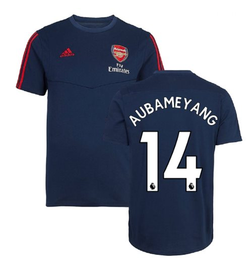 2019-2020 Arsenal Adidas Training Tee (Navy) (Aubameyang 14)