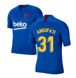 2019-2020 Barcelona Nike Training Shirt (Blue) (Ansu Fati 31)