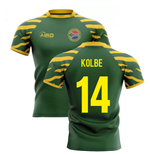 2019-20 South Africa Springboks Home Concept Rugby Shirt (Kolbe 14)