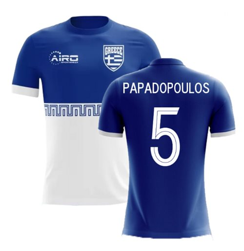 2018-2019 Greece Away Concept Football Shirt (Papadopoulos 5) - Kids