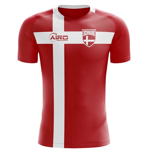 2018-2019 Denmark Flag Concept Football Shirt - Womens