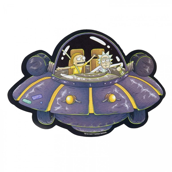 Rick and Morty UFO Spaceship Car Magnet