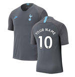 2019-2020 Tottenham Nike Training Shirt (Grey) (Your Name)