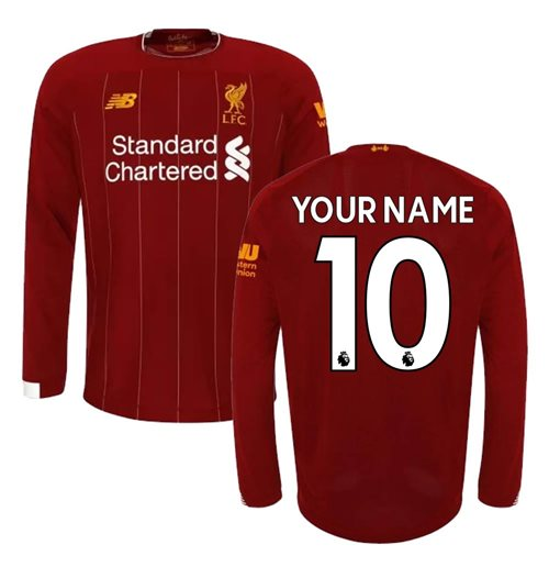 2019-2020 Liverpool Home Long Sleeve Shirt (Kids) (Your Name)