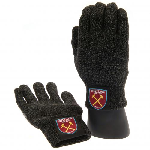 West Ham United F.C. Luxury Touchscreen Gloves Youths