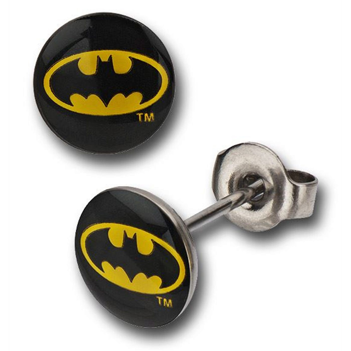 Batman Symbol 316L Surgical Steel Stud Earrings