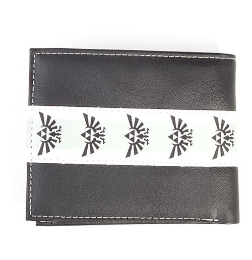 NINTENDO Legend of Zelda Hyrule Royal Crest Taping Bi-fold Wallet, Male, Black/White