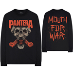 Pantera Unisex Long Sleeve Tee: Mouth For War (Back Print)