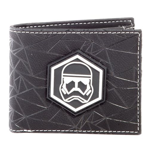 STAR WARS Rise of Skywalker Sith Trooper Badge Bi-fold Wallet, Male, Black