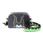 DISNEY Maleficent 2 Maleficent Character Face Shoulder Bag with Flaming Shoulder Strap, Female, Black