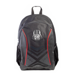 STAR WARS A New Hope Classic Darth Vader Mask Badge with Tiefighter Design Backpack, Unisex, Black/Red