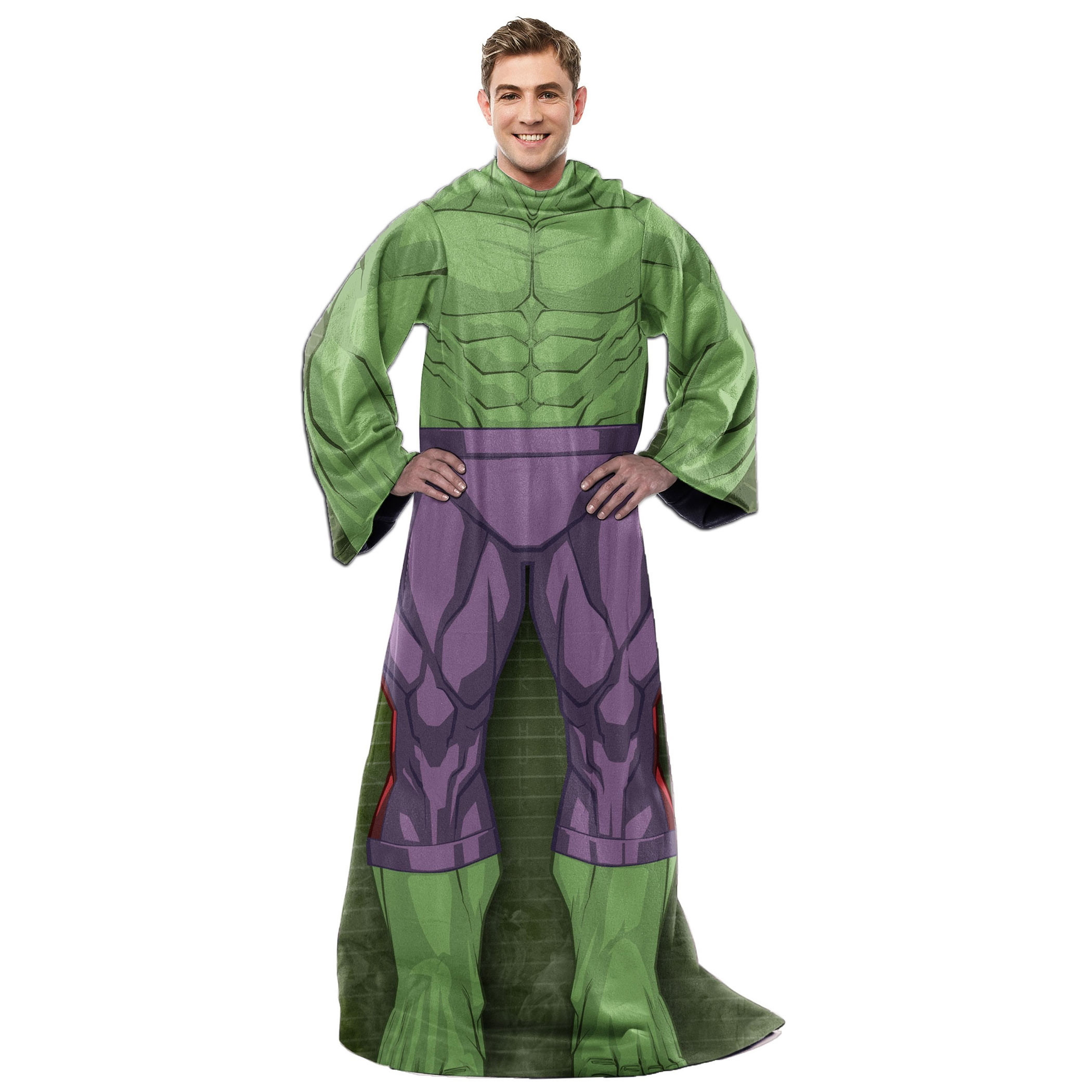 Incredible Hulk Costume Adult Throw Blanket With Sleeves