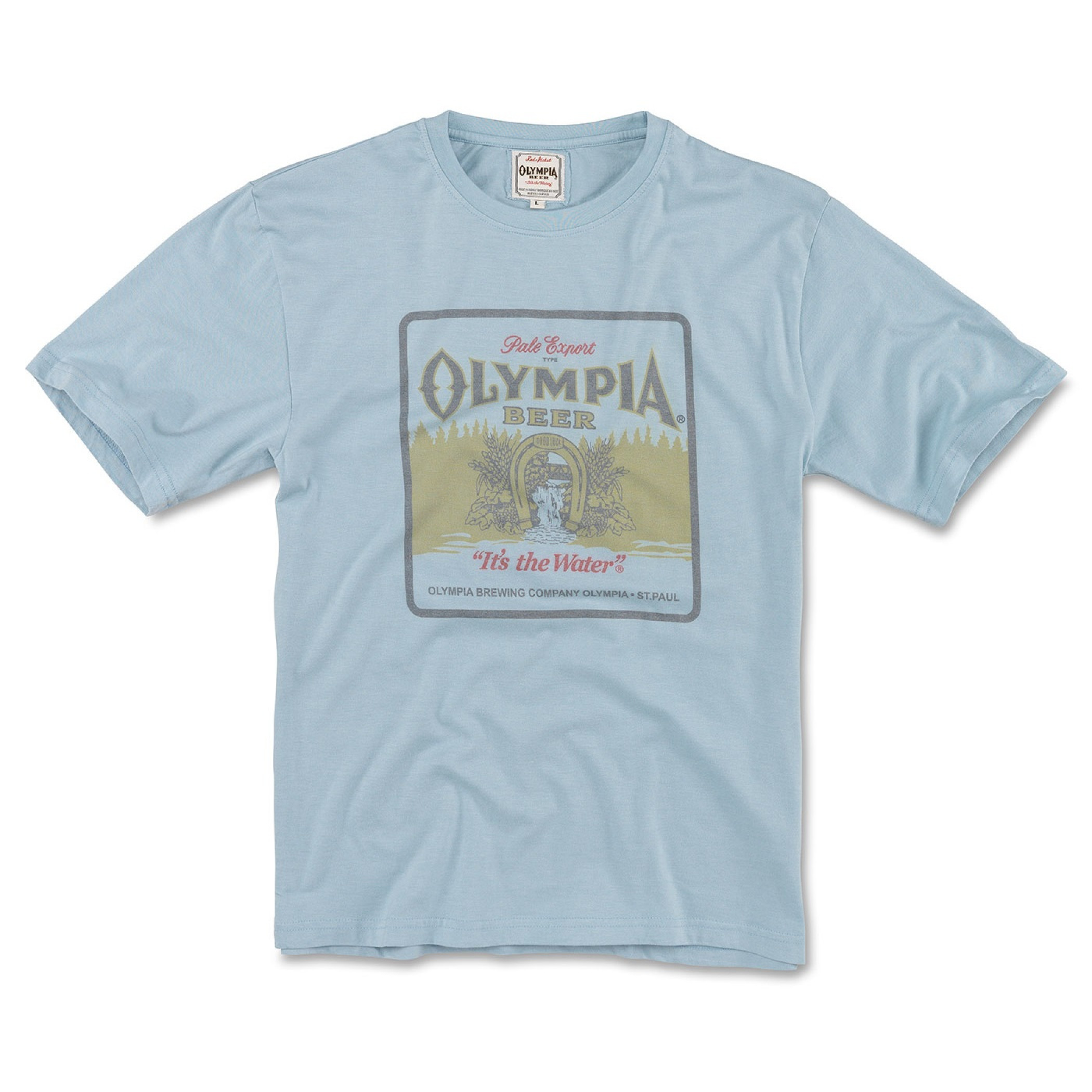 Olympia Beer Faded Blue T-Shirt