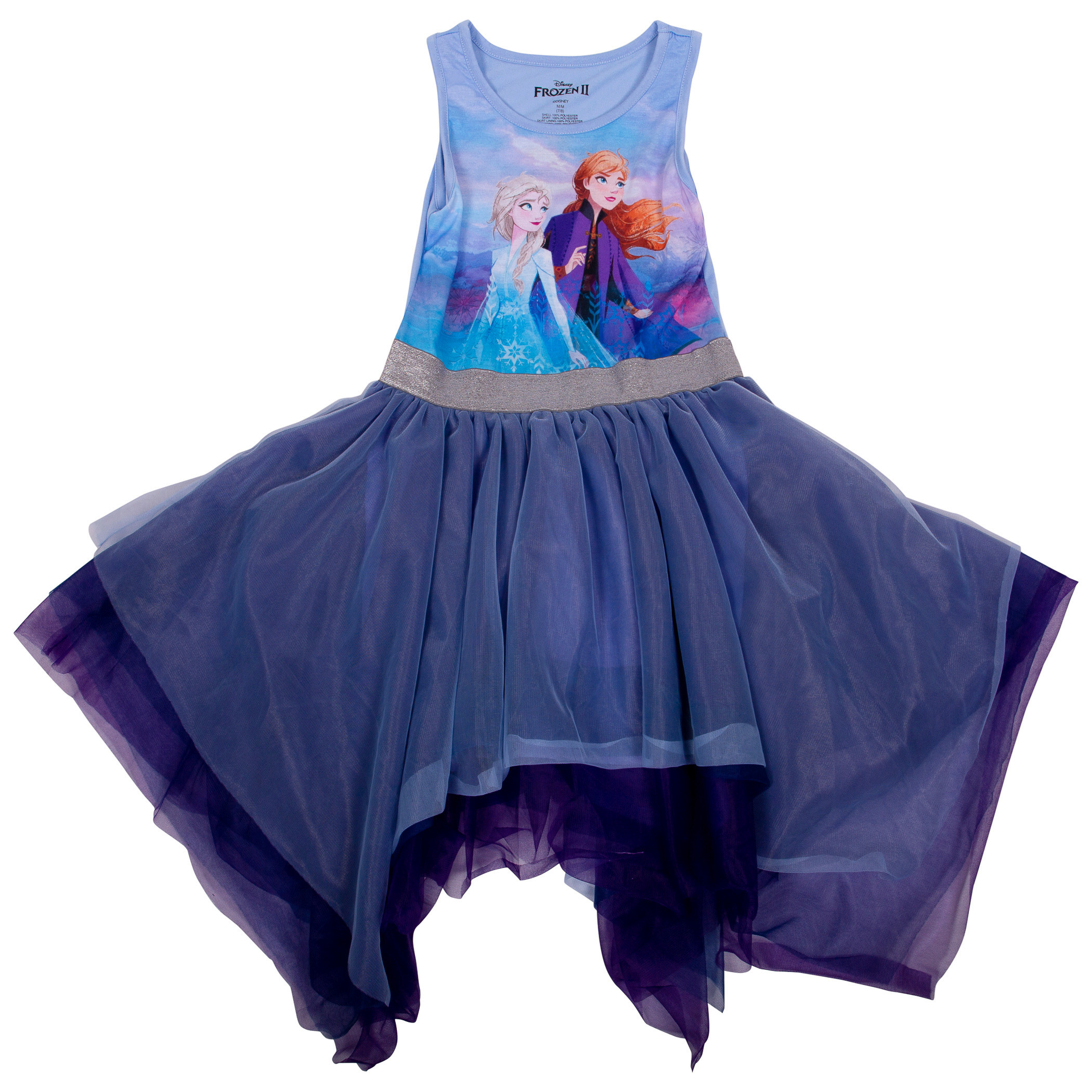 Frozen 2 Girls Tutu Dress With Cape
