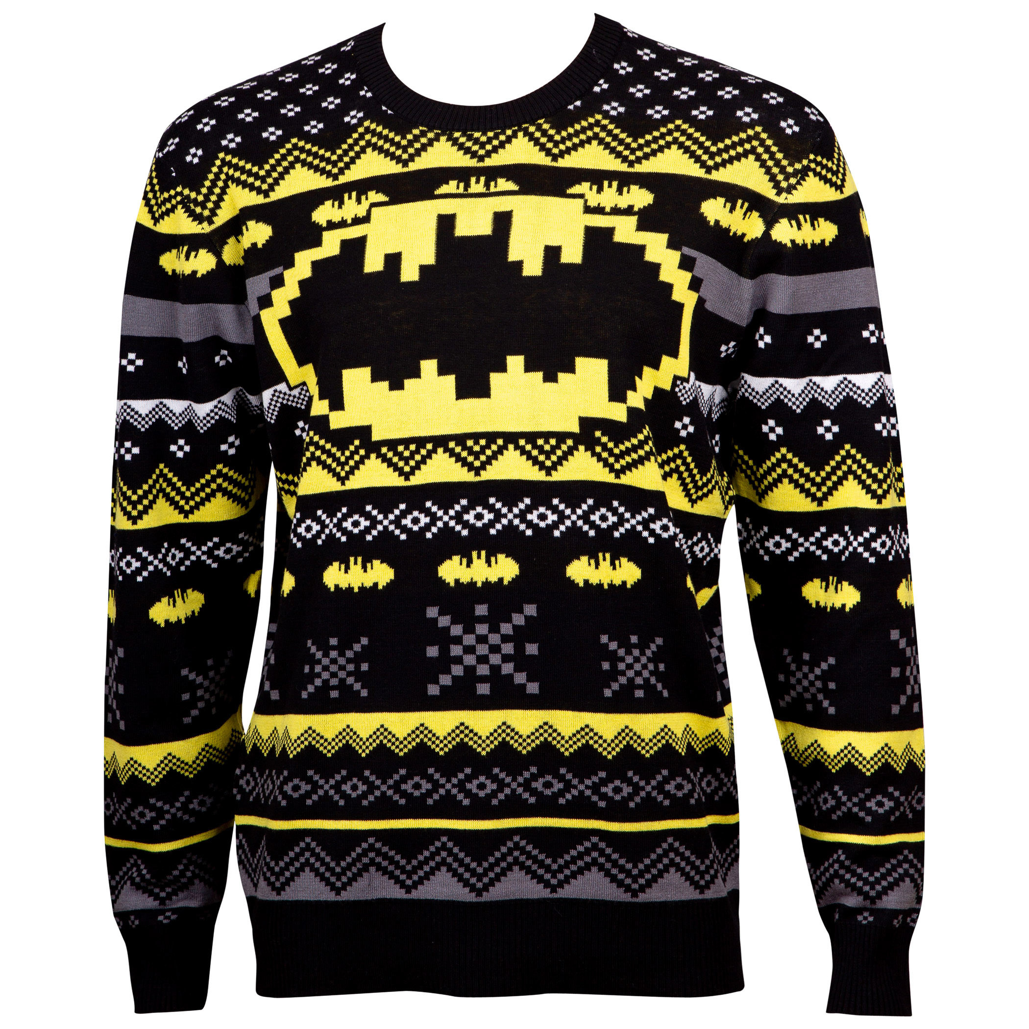Batman Patterned Ugly Holiday Sweater