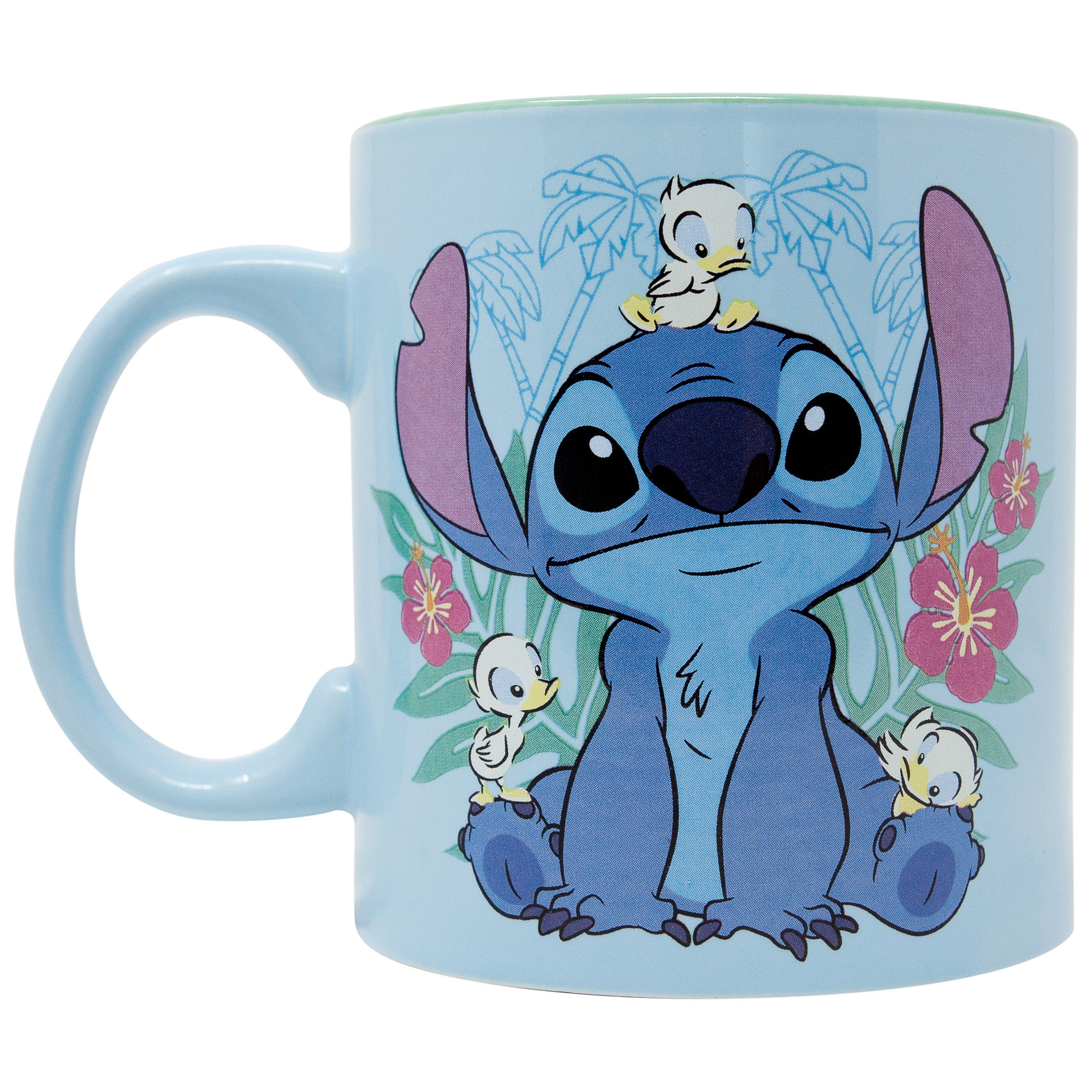 Lilo And Stitch Floral Duck Jumbo Ceramic Mug