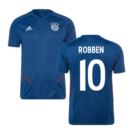 2019-2020 Bayern Munich Adidas Training Shirt (Night Marine) (ROBBEN 10)