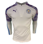 2019-2020 Manchester City Puma Half Zip Training Top (White)