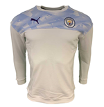 2019-2020 Manchester City Puma Casuals Sweat Top (White)