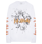 Def Leppard Unisex Long Sleeve Tee: Shatter (Arm Print)