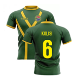 2019-20 South Africa Springboks Flag Concept Rugby Shirt (Kolisi 6)