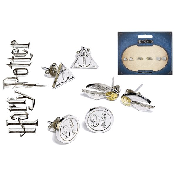 Hp Set Of 3 Earrings