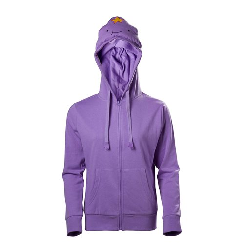 ADVENTURE TIME Lumpy Space Princess Full Length Zipper Hoodie, Female, Extra Large, Purple