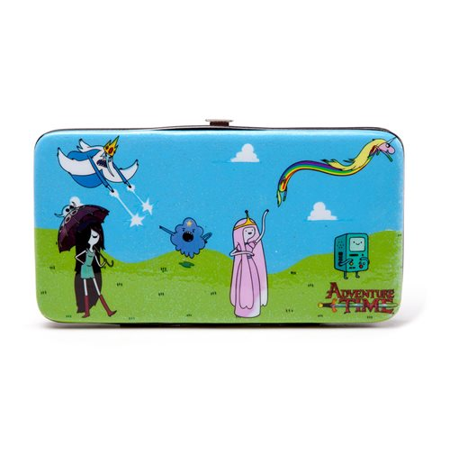 ADVENTURE TIME Finn and Jake All-over Print Hinge Purse Wallet, Female, Multi-colour