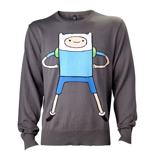 ADVENTURE TIME Finn Sweatshirt, Male, Medium, Black