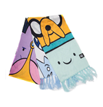 ADVENTURE TIME Characters All-over Print Knitted Scarf, Unisex, Multi-colour