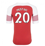 2018-2019 Arsenal Puma Home Football Shirt (Mustafi 20)