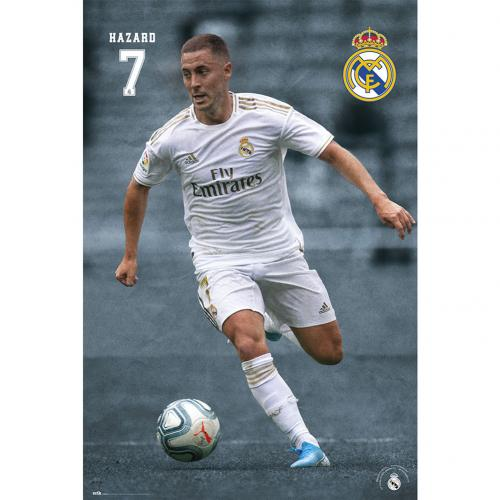 Real Madrid FC Poster Hazard 24