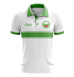 Bulgaria Concept Stripe Polo Shirt (White)