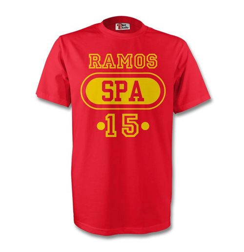 Sergio Ramos Spain Spa T-shirt (red) - Kids