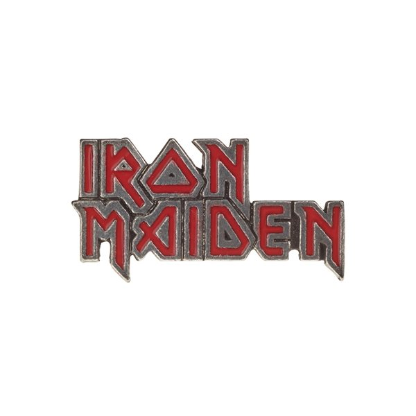 Iron Maiden Badge Red Enamel Logo (pin BADGE)