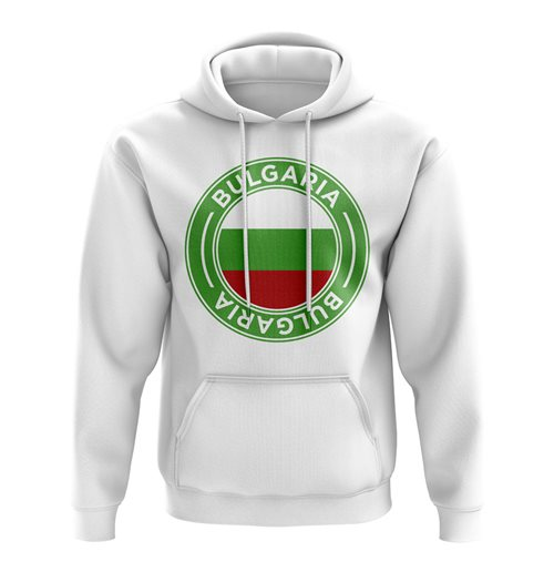 Bulgaria Football Badge Hoodie (White)