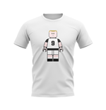 Alan Shearer Newcastle Brick Footballer T-Shirt (White)
