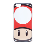 NINTENDO Super Mario Bros. Toad Mushroom Face Phone Cover for Apple iPhone 6, Multi-colour