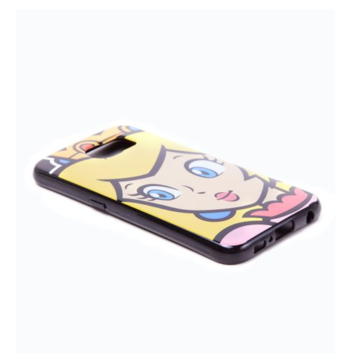 NINTENDO Super Mario Bros. Princess Peach Face Phone Cover for Samsung S6, Multi-colour