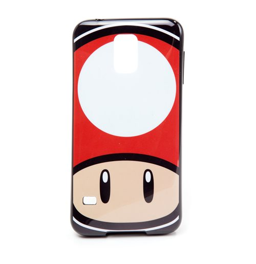NINTENDO Super Mario Bros. Toad Mushroom Face Phone Cover for Samsung S5, Multi-colour