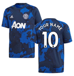 2019-2020 Man Utd Adidas Pre-Match Training Shirt (Mystery Ink) - Kids (Your Name)