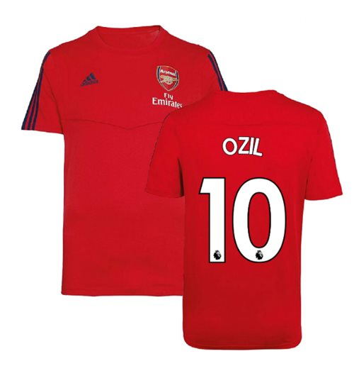 2019-2020 Arsenal Adidas Training Tee (Red) (Ozil 10)