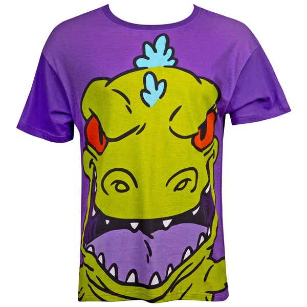 Rugrats Men's Purple Reptar T-Shirt