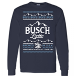 Busch Latte Ugly Christmas Sweater Design Long Sleeve Shirt