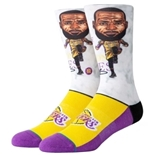 Los Angeles Lakers Lebron Big Head Socks