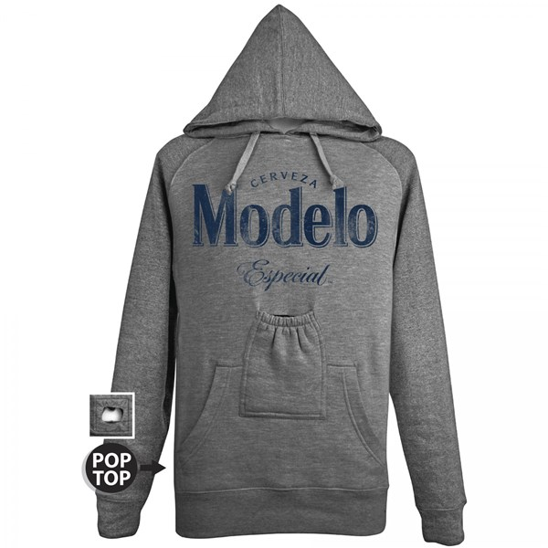 Modelo Especial Bottle Opener Pop Top Grey Hoodie