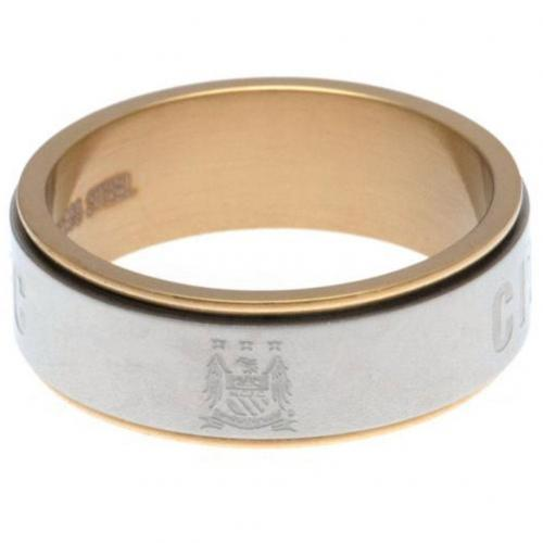 Manchester City FC Bi Colour Spinner Ring XXX-Large