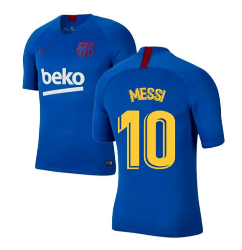 2019-2020 Barcelona Nike Training Shirt (Blue) (MESSI 10)
