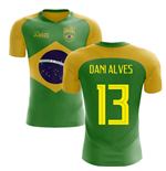 2018-2019 Brazil Flag Concept Football Shirt (Dani Alves 13)
