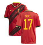 2020-2021 Belgium Home Adidas Football Shirt (Kids) (ORIGI 17)